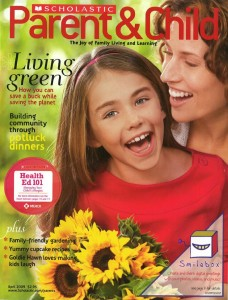 Scholastic's <em>Parent and Child</em>, which features an ad on the cover in violation of ASME guidelines. Still, the title's ad sales are up 6% in the first half of 2009