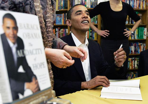 Obama book signing