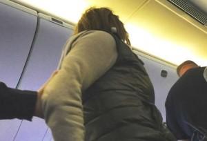 british airways london boston passenger handcuffs instagram cropped