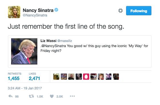 nancy sinatra tweet
