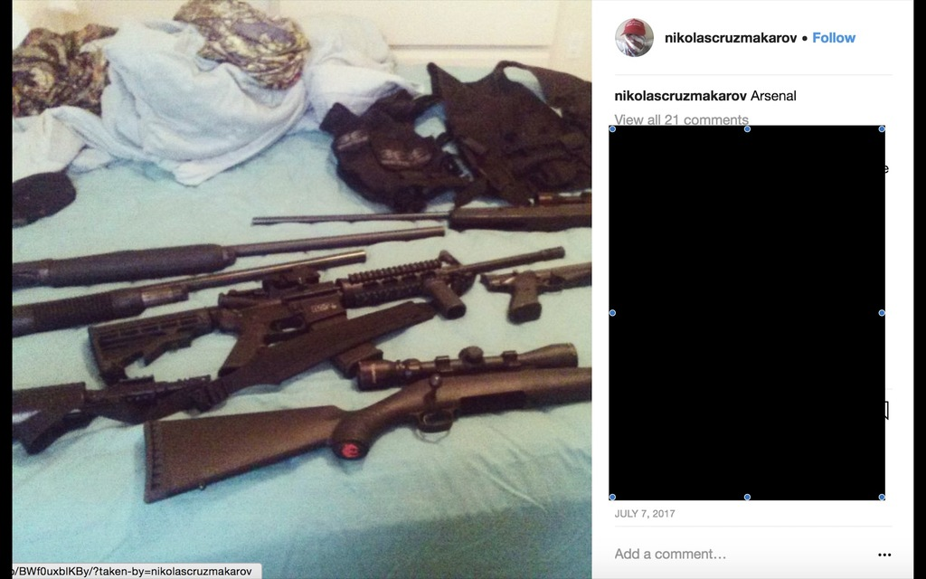 Florida Shooting Suspect Posed In Maga Hat Posted Photos Of Guns And Dead Animals On Instagram