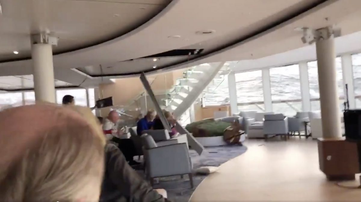 Scary Footage from Viking Sky Cruise ship shows ship tilting, passengers and furnitive tossed