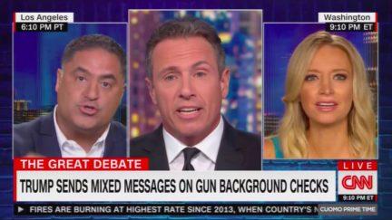 Cenk Uygur Unleashes on Campaign Spox Over Trump Gun Control Flip-Flops