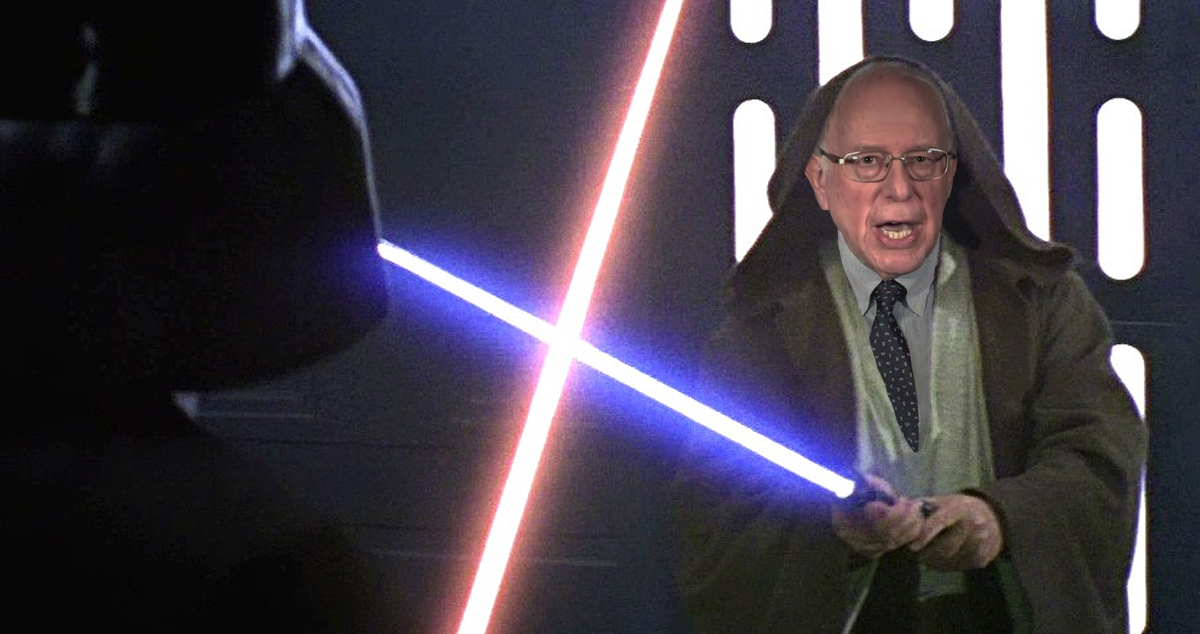 Bernie Sanders Compared to Obe Wan Kenobi by Campaign in Email