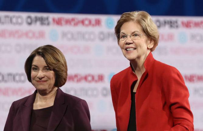 Elizabeth Warren, Amy Klobuchar