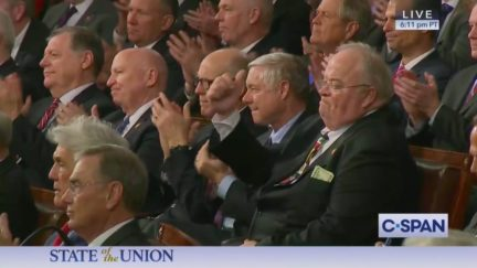 Rep. Billy Long Cheers Trump at SOTU With Wad of Cash in Breast Pocket