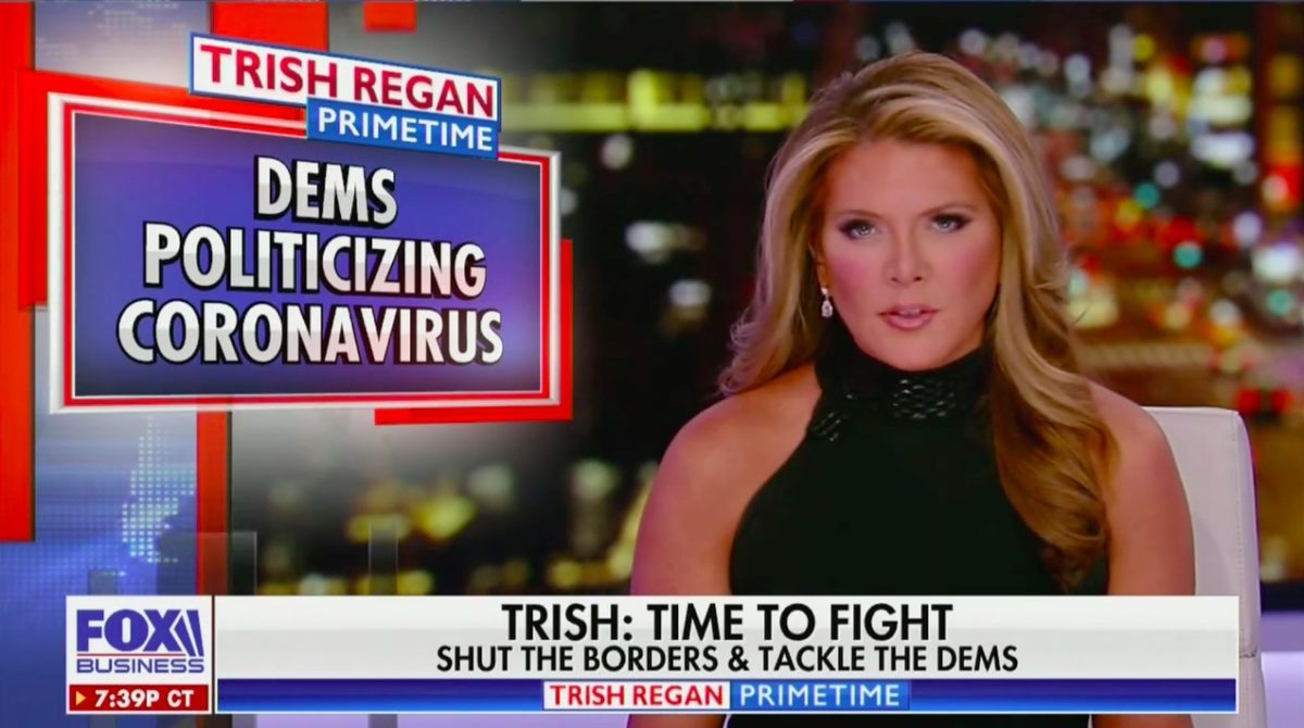 Trish Regan Calls for Political Unity, Blasts Democrats, CNN for Stoking Coronavirus Panic