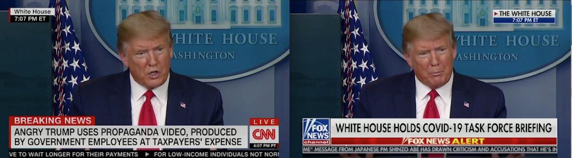 CNN Fox News chyrons