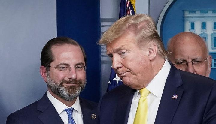 HHS Secretary Alex Azar, President Donald Trump