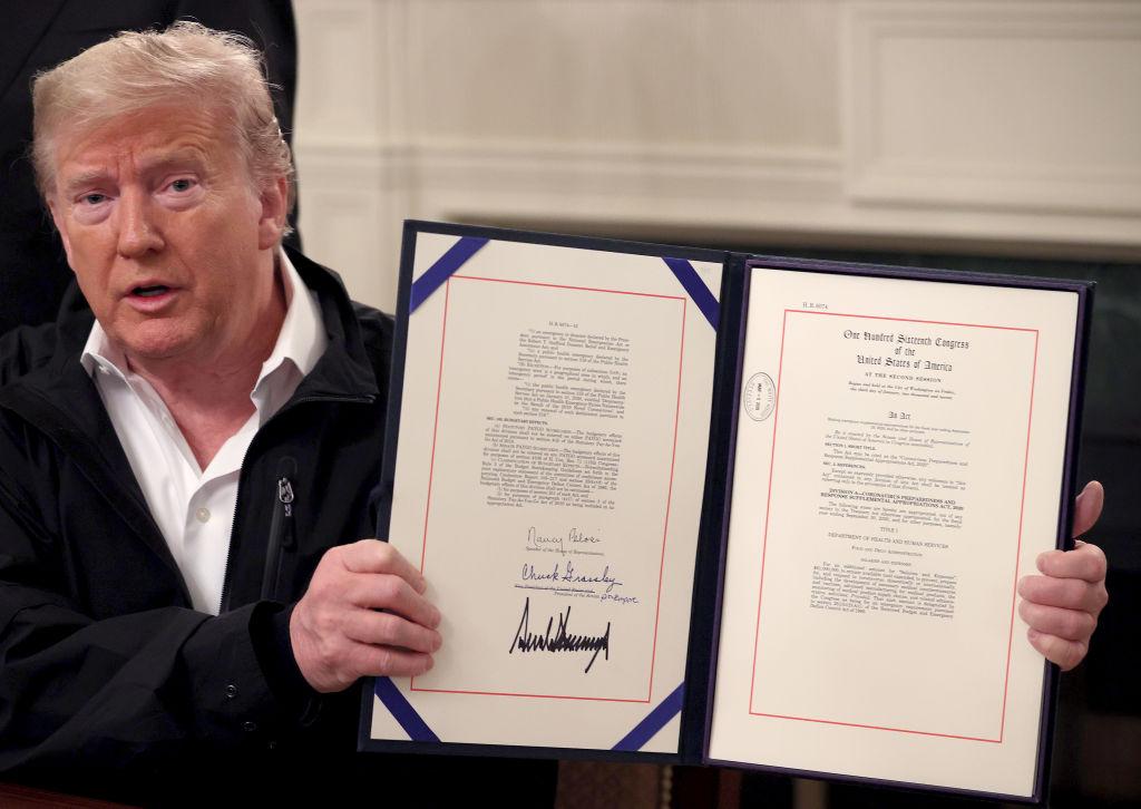 President Donald Trump's signature