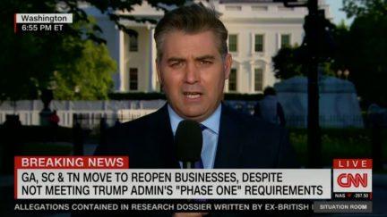 Jim Acosta Calls Out Trump's False Claim That Lockdown Protestors are Social Distancing