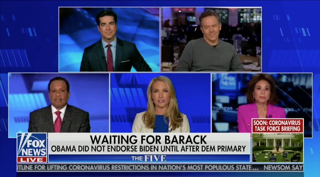 The Five with Judge Jeanine Tops All Fox News Primetime in Tuesday Ratings