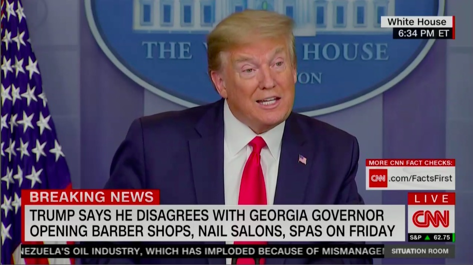Trump Approved GA Gov. Brian Kemp's Reopening Plan One Day Before Publicly Claiming He Disagreed With It