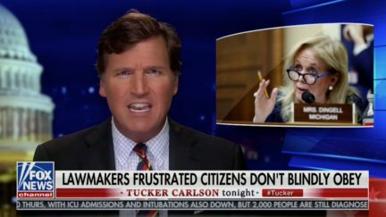 Tucker Carlson Rails Against 'Arbitrary Fascism' of MI Dems Allowing Weed, Liquor Sales During Coronavirus Pandemic