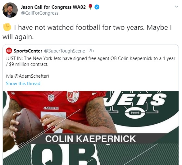 Colin Kaepernick New York Jets signing hoax delights Donna Brazile