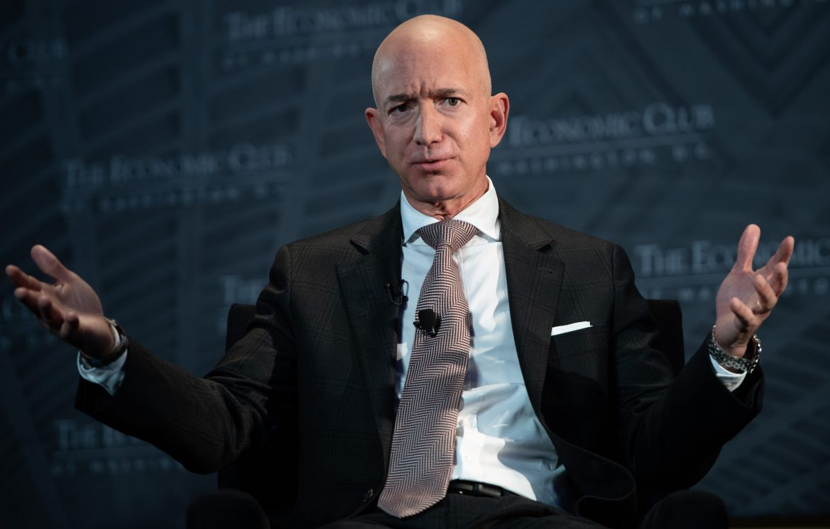 Bezos endorses higher corporate taxes for infrastructure