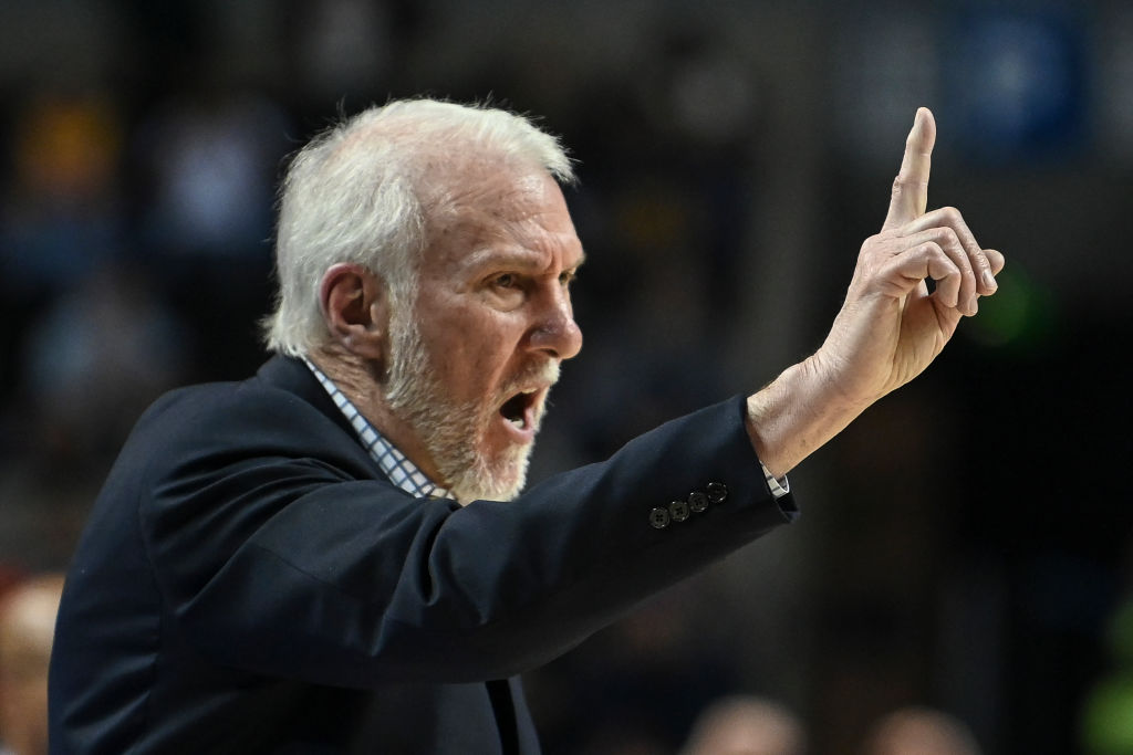 San Antonio's Spurs Coach Gregg Popovich