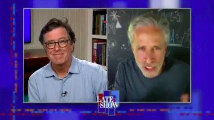 Jon Stewart Praises Biden Past the Shtick