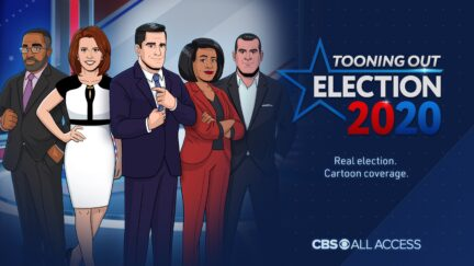 tooning out the news election logo