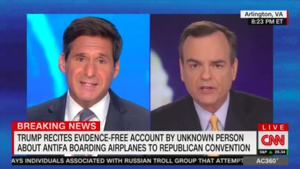 John Berman Grills Trump Campaign Spox Who Can't Back President's Riot-Flight Conspiracy Theory