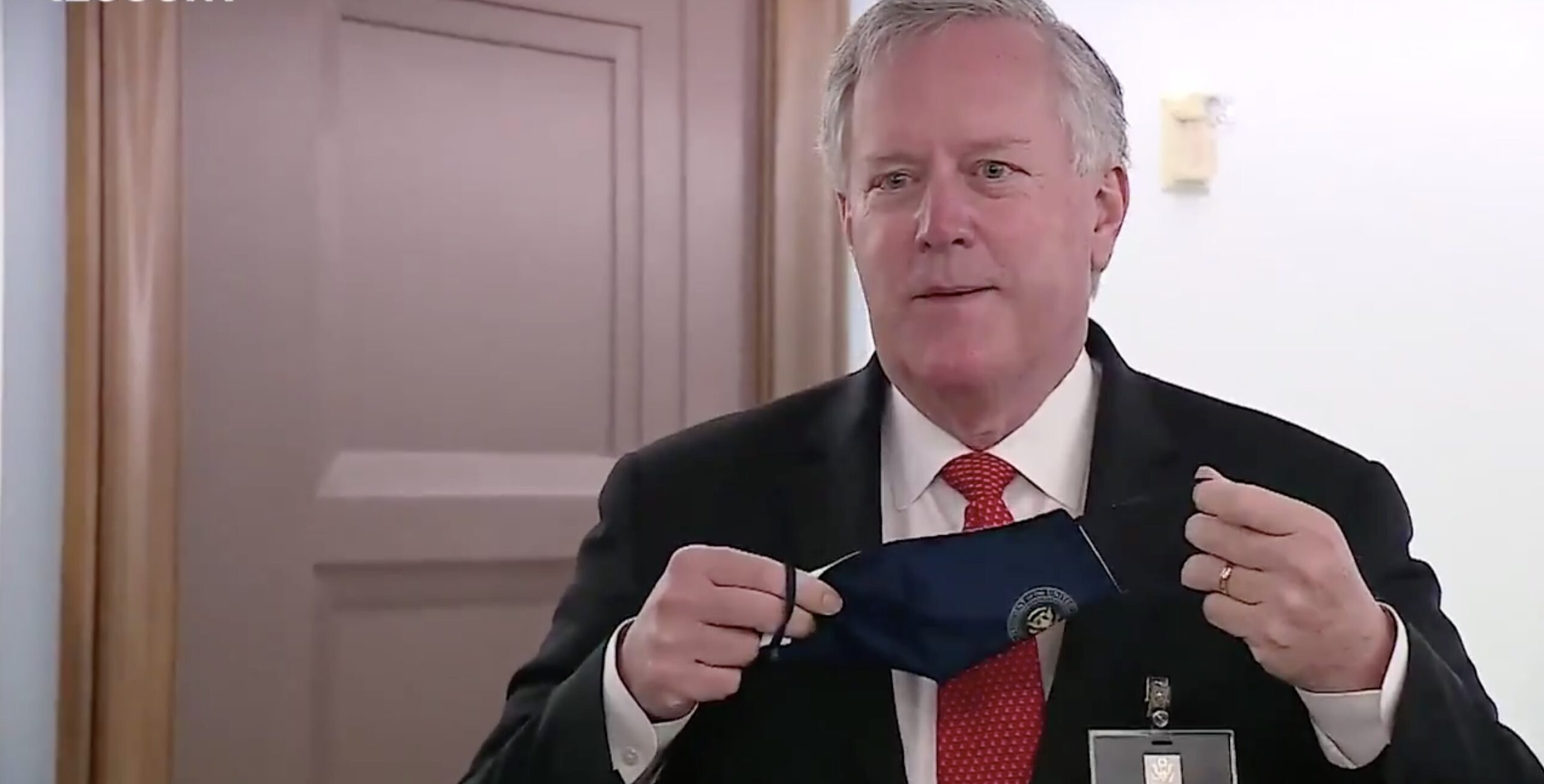 Mark Meadows Storms Off, Refuses to Talk to Reporters After One Asks Him to Wear a Mask