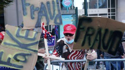 pro-Trump vote-counting protestor