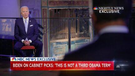 Joe Biden Tells Lester Holt 'This Is Not a Third Obama Term'