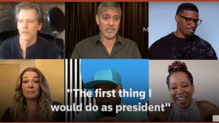 George Clooney Jamie Foxx President