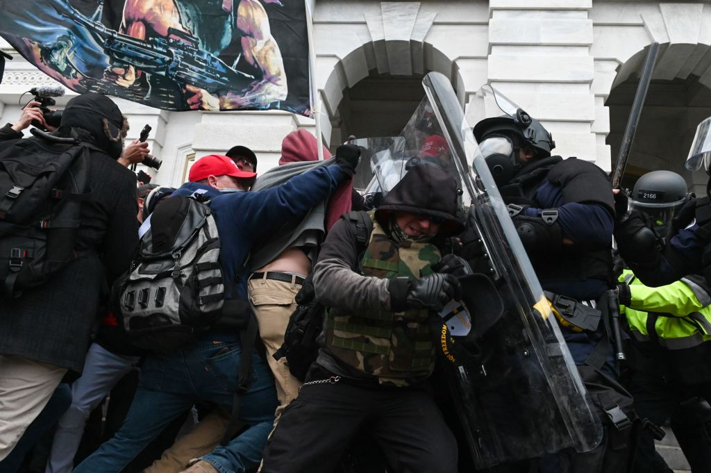 Capitol mob assaults police