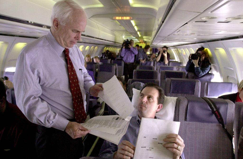 John Weaver, talking with Sen. John McCain