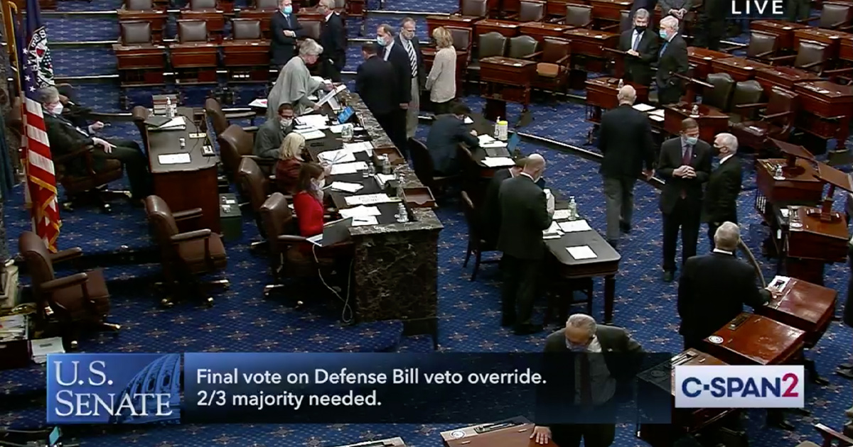 what portion of congress must vote to override a veto