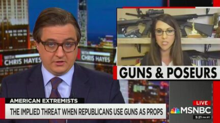 Chris Hayes Calls Out Similarities Between GOP's Politicized Gun Imagery and Terrorists, Revolutionaries