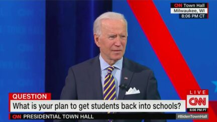 Joe Biden Says Goal of Opening Schools Just One Day a Week was Miscommunication
