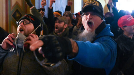 Supporters of US President Donald Trump riot inside the US Capitol on January 6, 2021