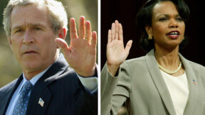 george bush condi rice