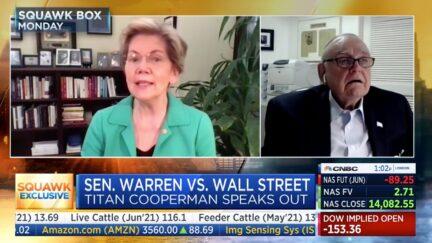 Elizabeth Warren and Lee Cooperman on CNBC