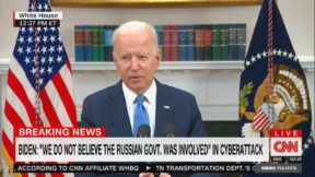 Joe Biden Adresses Pipeline Hack on CNN