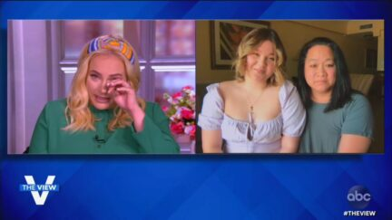 meghan mccain with Molly Oldam on the view