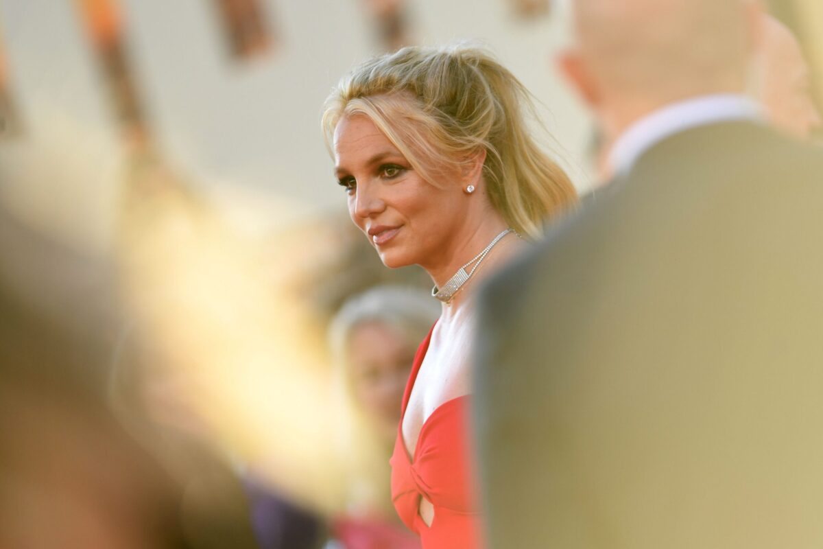 """Britney Spears arrives for the premiere of Sony Pictures' """"Once Upon a Time... in Hollywood"""""""