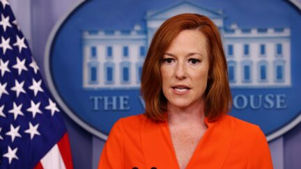 WASHINGTON, DC - JUNE 21: White House Press Secretary Jen Psaki holds a press briefing at the White House on June 21, 2021 in Washington, DC. Psaki spoke on the upcoming Senate vote on the voting rights reform bill. (Photo by Kevin Dietsch/Getty Images)