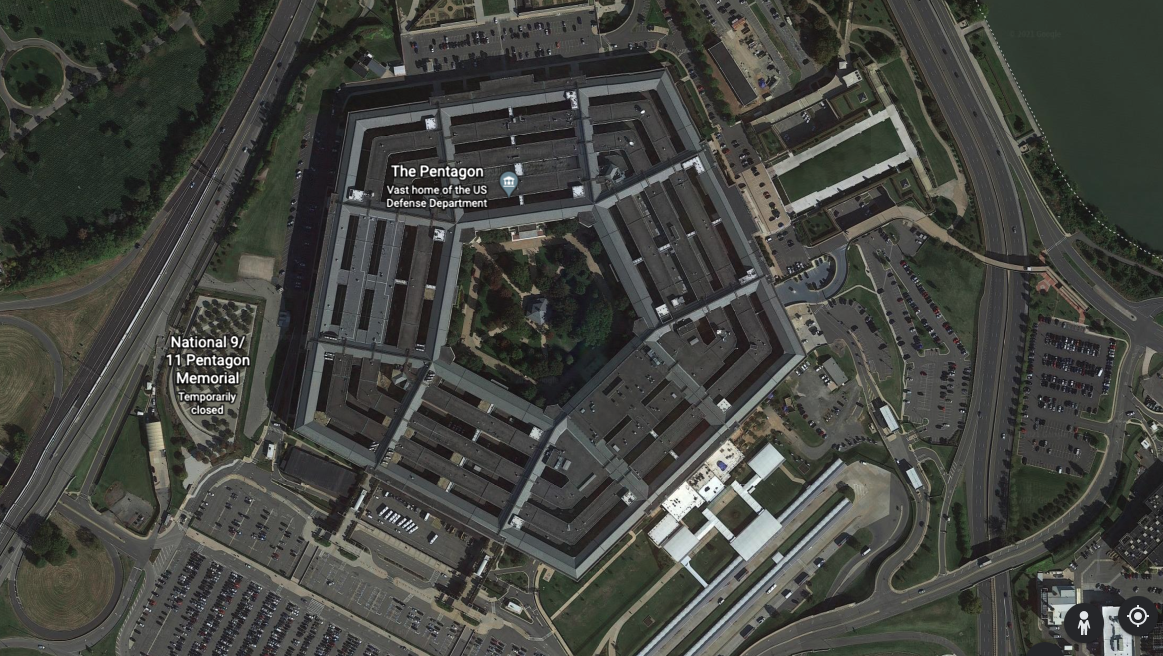 The Pentagon seen from above