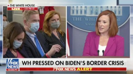 Peter Doocy and Jen Psaki at the White House