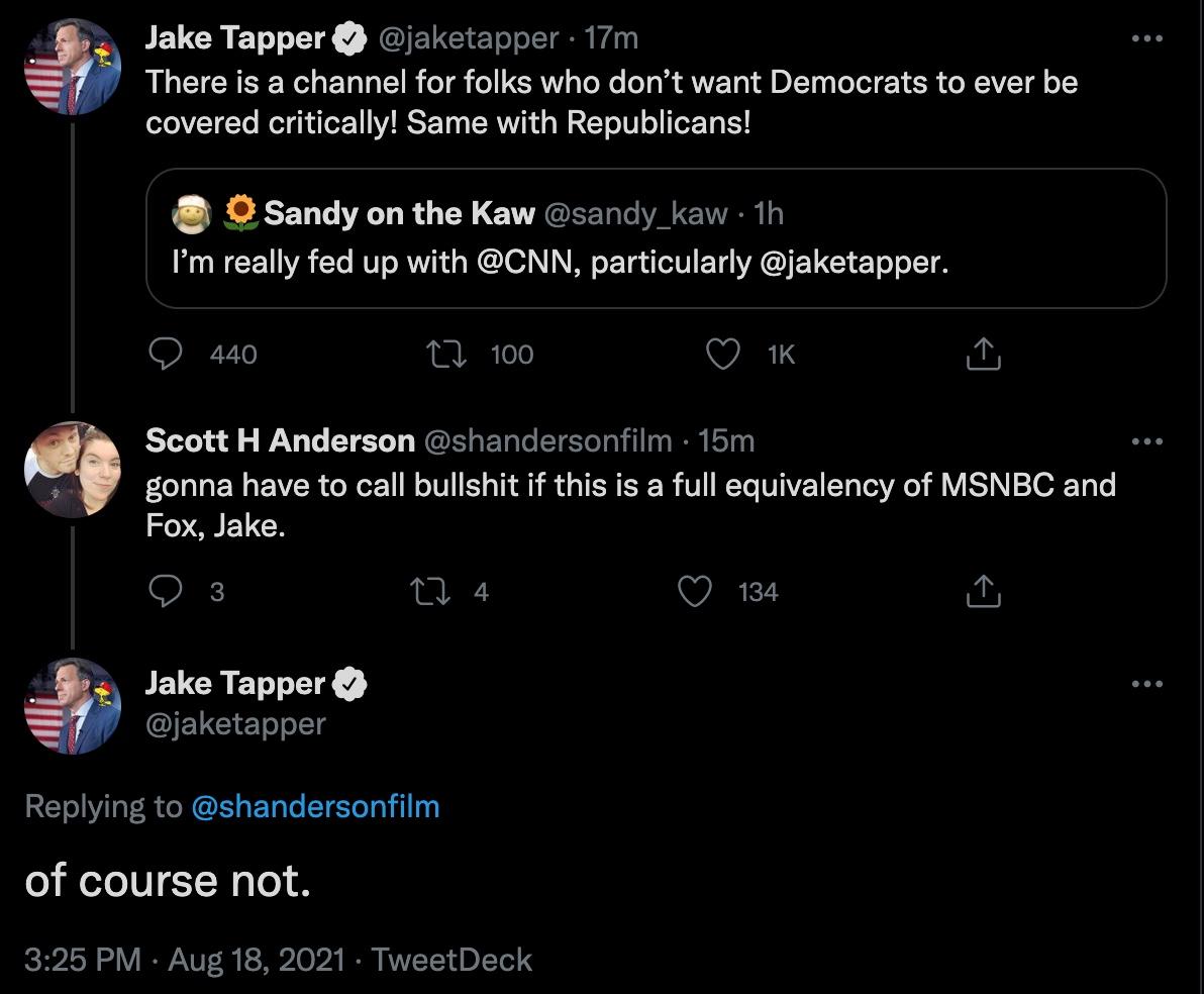 Tapper Twitter beef