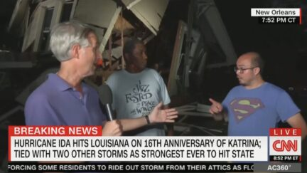 Gary Tuchman Asks Hurricane Victim About Proposing to Girlfriend