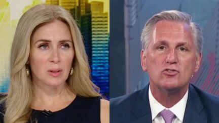 Becky Quick Kevin McCarthy split image CNBC interview