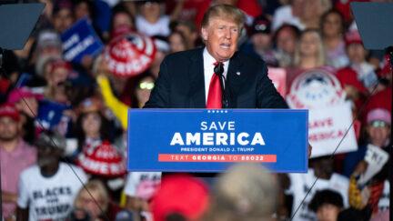 Donald Trump at Trump rally in Georgia
