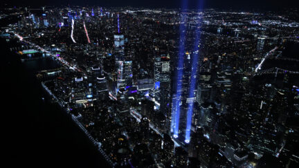 Tribute In Light Projects Into NYC Sky On 20th Anniversary Of 9/11 Attacks