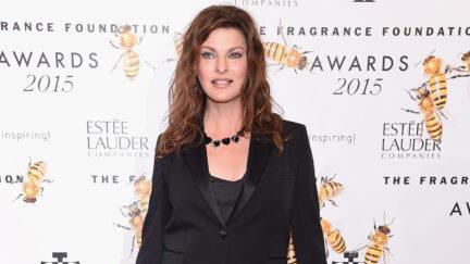 Linda Evangelista at 2015 Fragrance Foundation Awards - Arrivals