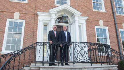 Terry McAuliffe and Donald Trump at Trump Winery