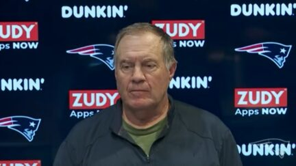 Bill Belichick answers a question about long snapping